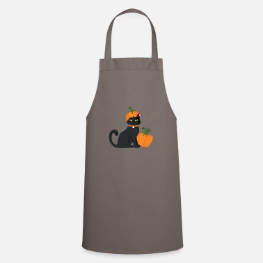 Domestic Cat Cat with pumpkin domestic cat gift - Cooking Apron