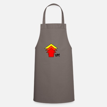 Up Up up steeply up arrow - Cooking Apron