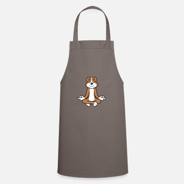 Male Puppy Dog Puppy Yoga meditation dog puppy dog - Apron