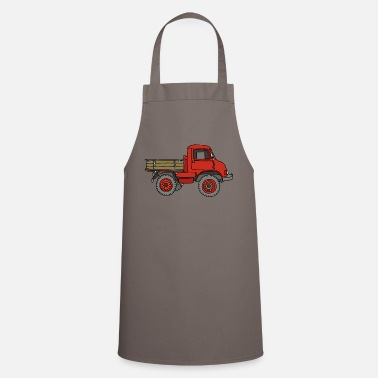 Pickup Line Red pickup truck - Cooking Apron