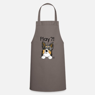 Play Playing Border Collie - Dog - Dogs - Gift - Apron