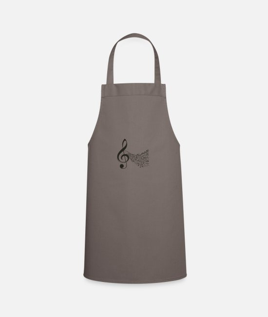 Music Aprons - Music Symphony acord notes - Apron grey