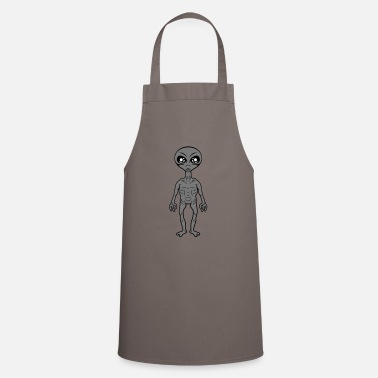 Grey Small grey grey alien - Apron
