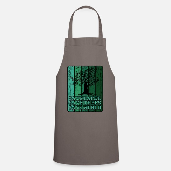 Nature Aprons - Save Earth, Save Life - Apron grey