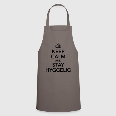 keep calm and stay hyggelig feeling happy - Cooking Apron