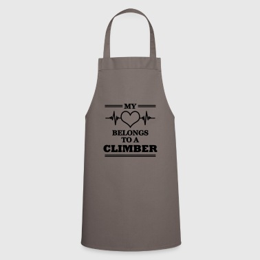 My heart belongs to a climber - Cooking Apron