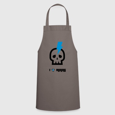 mining skull bitcoin crypto nerd pc coin craft mon - Cooking Apron