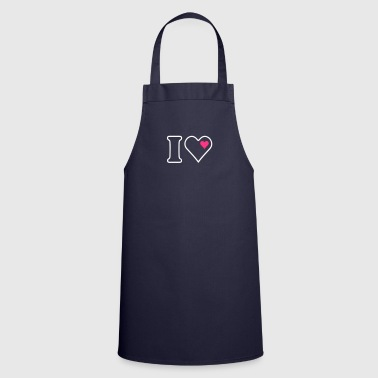 I Heart I heart (outline, 2c) - Tablier de cuisine