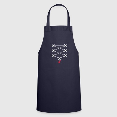 two ribbons with two heart pendant in corset optic - Cooking Apron