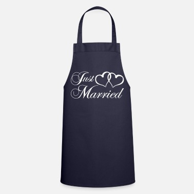 Mariage just_married_coeur - Tablier de cuisine