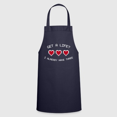 Pixel Get A Life 8-Bit Gamer Hearts - Cooking Apron
