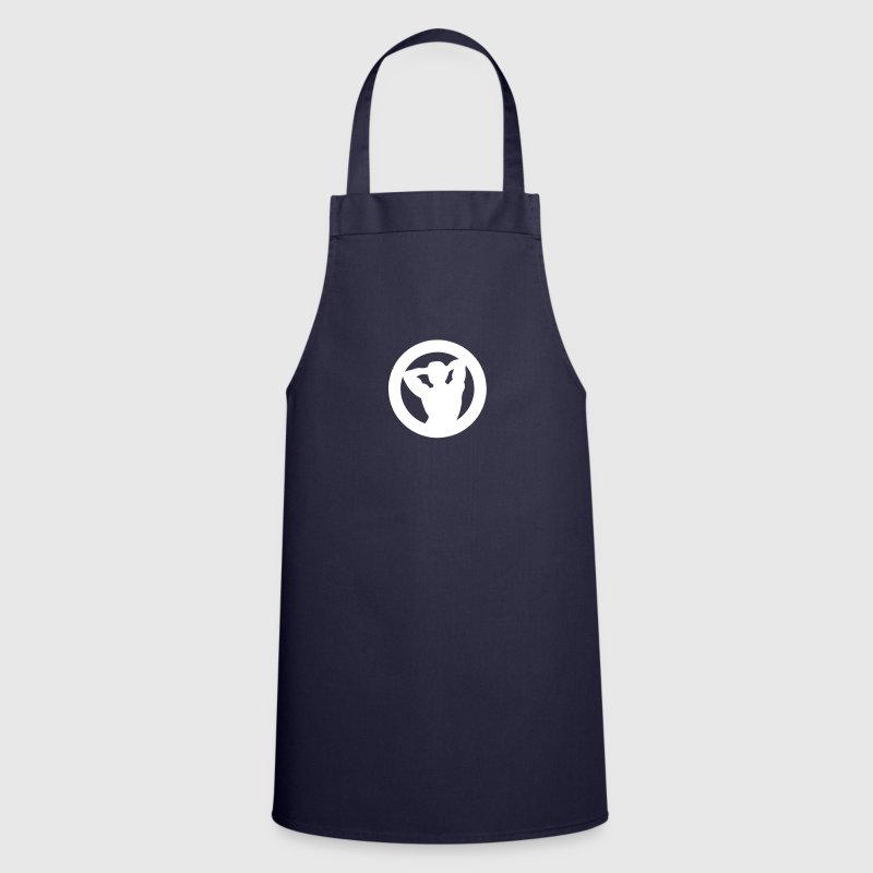 Bodybuilder logo muscle building 2202 - Cooking Apron