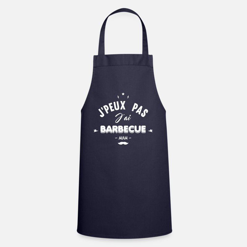 Barbecue Tabliers - j'peux pas j'ai barbecue - Tablier marine