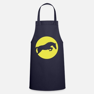 Show Jumping Horse show jumping sun sunset - Cooking Apron