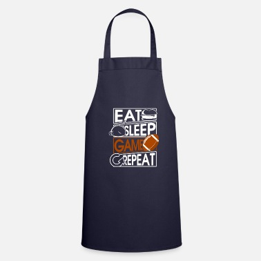 American Football Eat Sleep Game Repeat American Football Quaterback - Cooking Apron