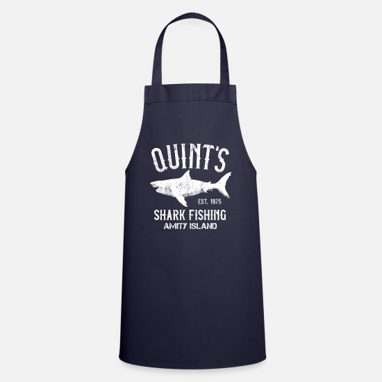 Island Aprons - Quint's Shark Fishing Charters - Amity Island 1975 - Apron navy