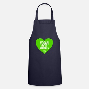 Vegan for the animals - Schürze