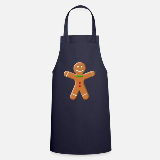 Cut Out Aprons - Gingerbread - Apron navy