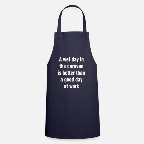 Caravan Aprons - Wet day in the caravan - Apron navy