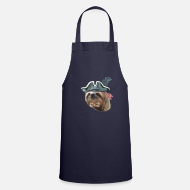Bow Tie Sloth Pirate Hat Plaid bow tie Sloths In Clothes - Cooking Apron