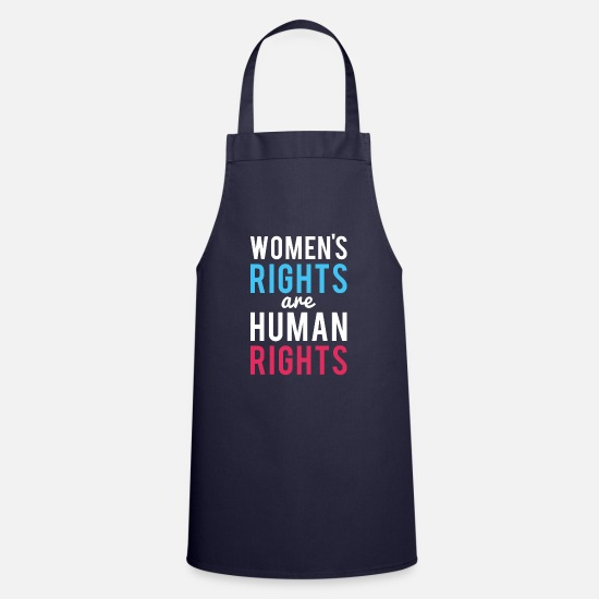Tee Aprons - Women's Rights Are Human Rights - Apron navy