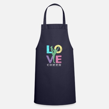 Decoration Cute Girls LOVE to Cheer Cheerleaders Gift - Cooking Apron