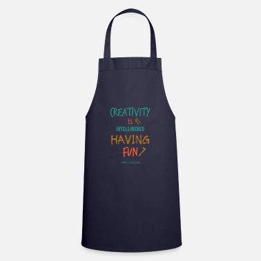 Hammer Creativity Is Intelligence Having Fun Gift - Cooking Apron