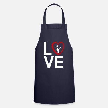 I Love My Cat - Apron