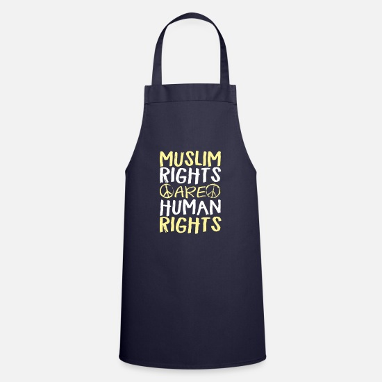 Religious Aprons - Muslim Rights Are Human Rights - Apron navy