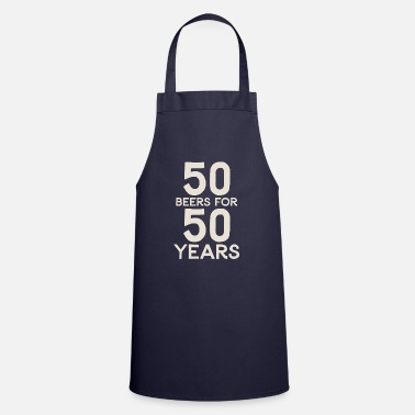 50 50 Beers For 50 Years - Apron