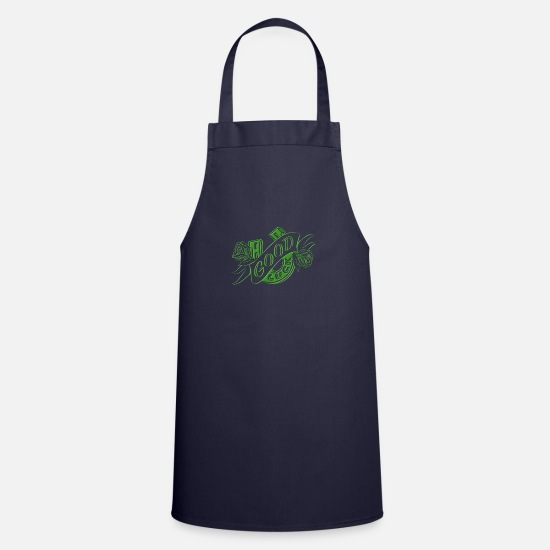 Gift Idea Aprons - good luck - Apron navy