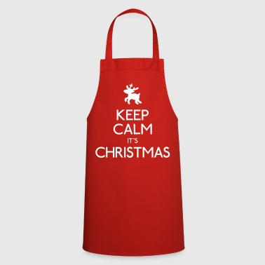 keep calm its christmas - Cooking Apron