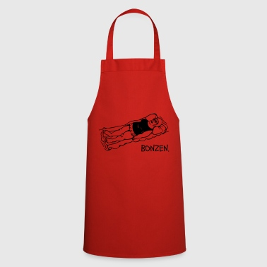 Fat cat on air mattress - Cooking Apron