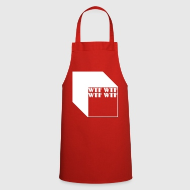 wtf logo abstract cubos - Delantal de cocina