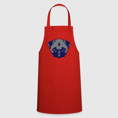 Dog pug badger aggressive 306 - Cooking Apron