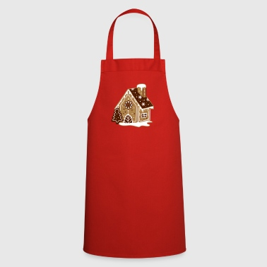 A gingerbread house, gingerbread and frosting  - Cooking Apron