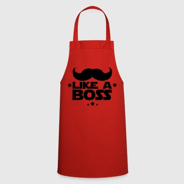 like a boss(moustache) - Tablier de cuisine