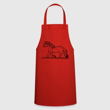 Tinker Gypsy Vanner Horse Heavyblood Pony Trot - Cooking Apron