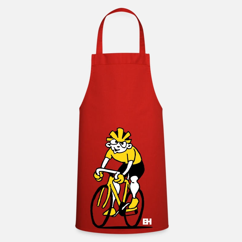Bike Aprons - Cyclist - Cycling - Apron red
