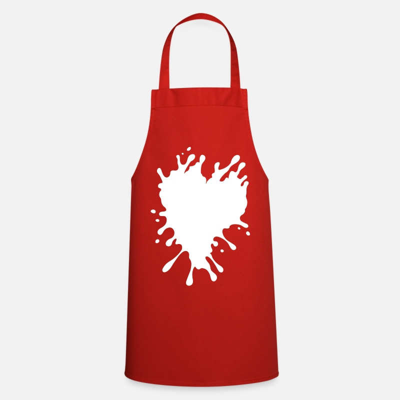 Corazon Aprons - Splatter Heart - Apron red