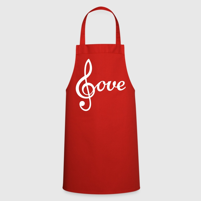 I love Music Treble Clef  - Cooking Apron