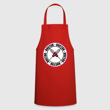 round circle stamp doctor sting syringe blood arz - Cooking Apron