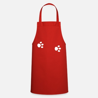 Paw Paws paw paw paws footprint animal trace - Cooking Apron