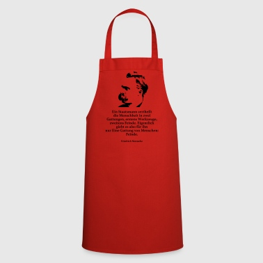 Nietzsche: A man of government divides humanity - Cooking Apron
