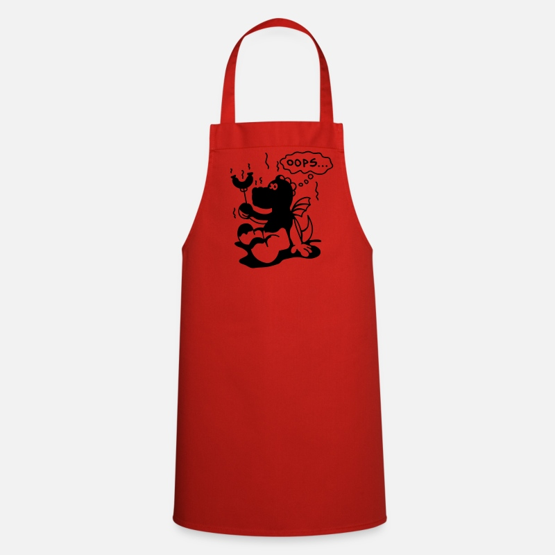 Burn Baby Burn Aprons - BBQ Dragon  Aprons - Apron red