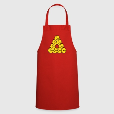 Optical illusion - Impossible figure - Cooking Apron