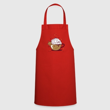 Cappuccino with cream and star cookies - Cooking Apron