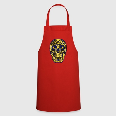 Mexican skull tattoo 0123 - Cooking Apron