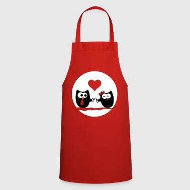 Day Valentine's Day Owls - Cooking Apron