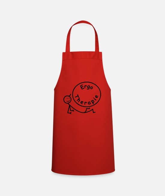 Occupational Therapy Aprons - Occupational Therapy / Occupational Therapist - Apron red